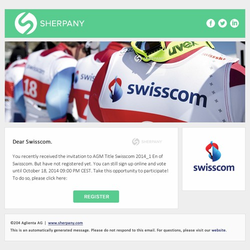 Create templates for transactional and marketing emails for the Sherpany Investor Service Platform