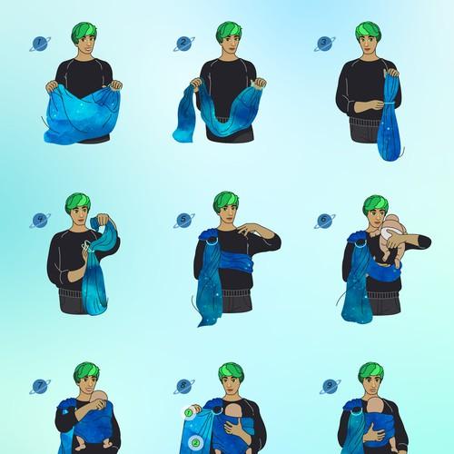 Ring Sling instructions illustration.