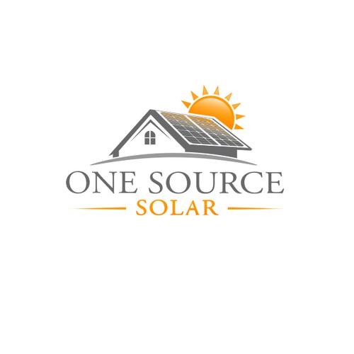 Elegant logo for solar Installation company