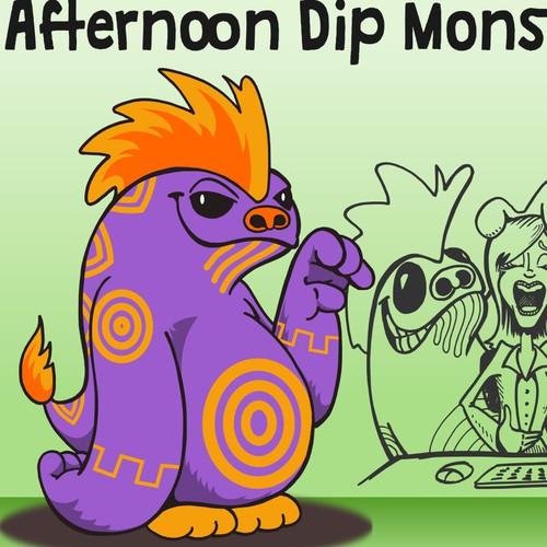 Mascot Monster for beverage