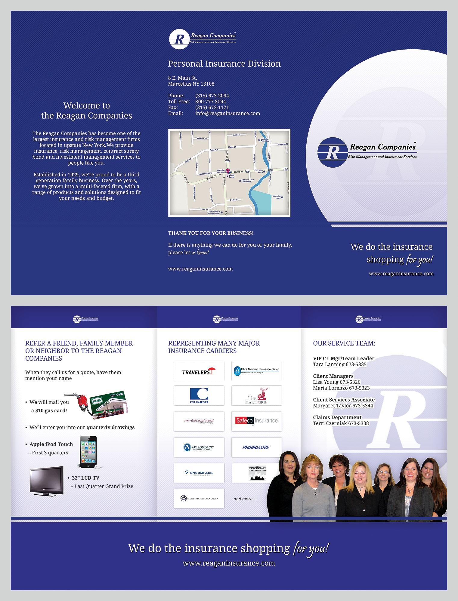 Reagan Companies - new tri-fold brochure design