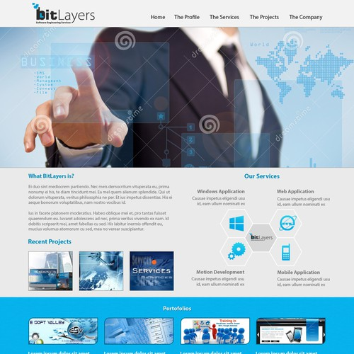 Create the next landing page for BitLayers, Inc.