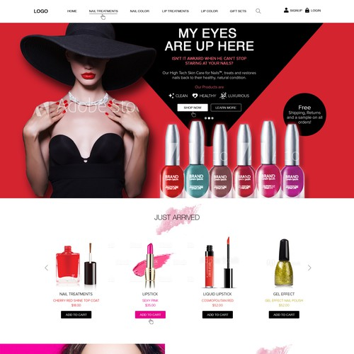 Design a Modern Sexy, Beauty Website for Nails Product