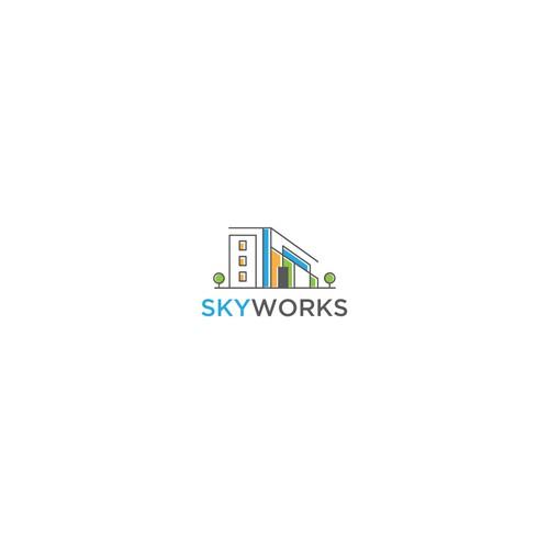 Colourful and contemporary design for skyworks