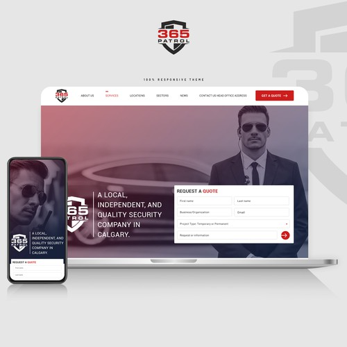 Clean and Corporate website design for Security Guard Company