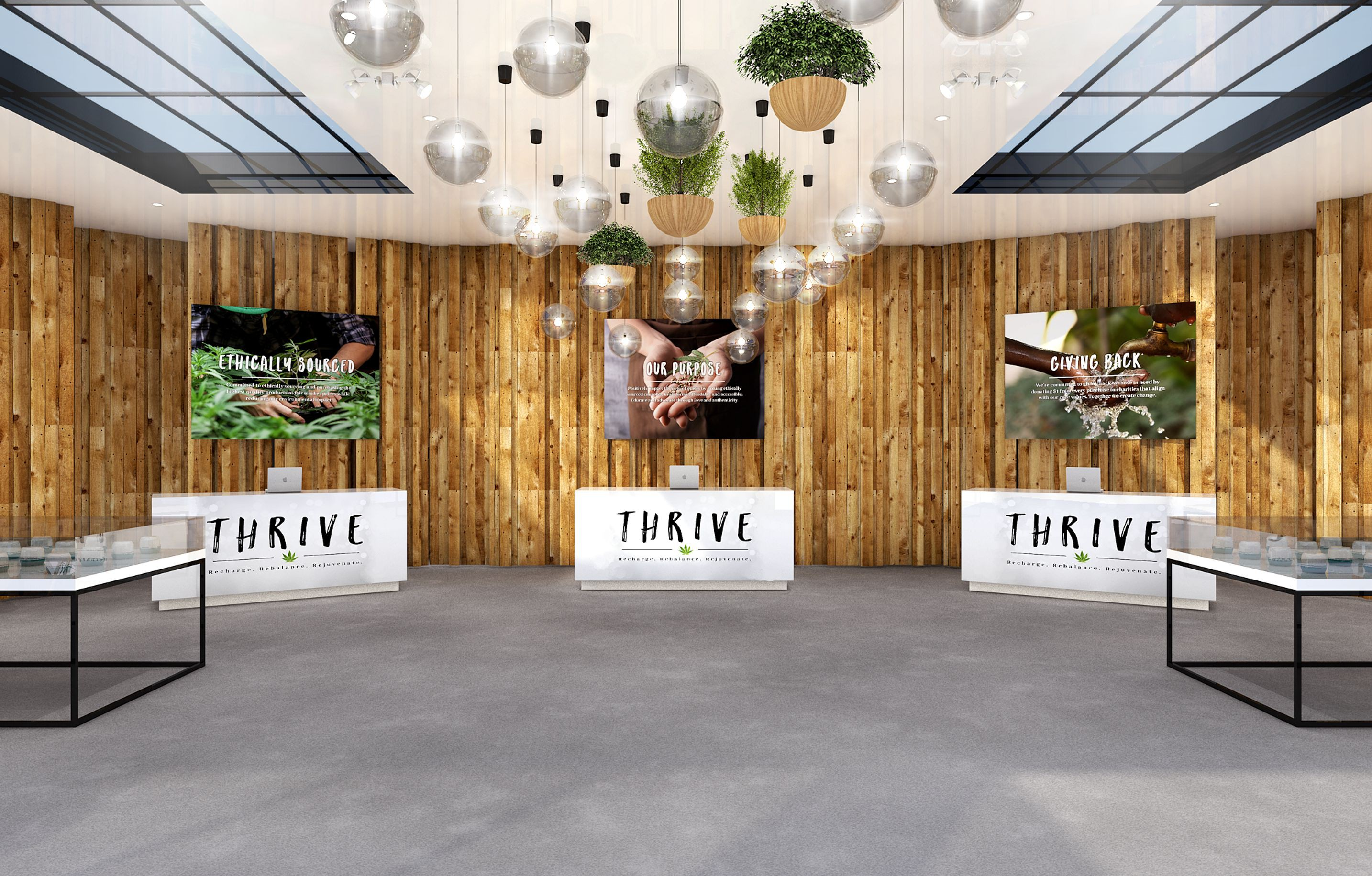 Thrive Dispensaries Retail 3-D Renderings