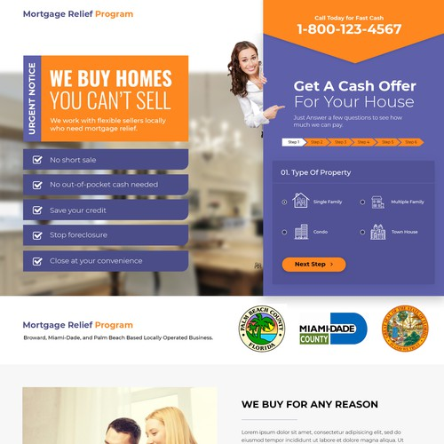 Mortgage & Real Estate Landing Page