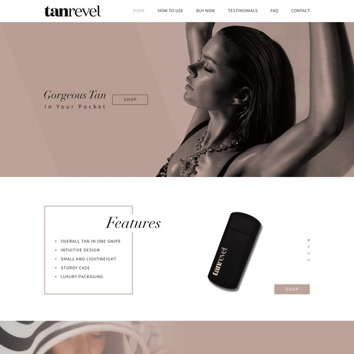 Beauty product page