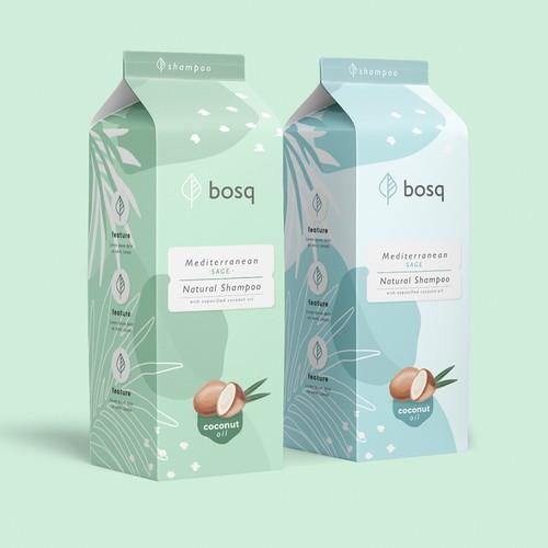 Natural Shampoo Packaging Design