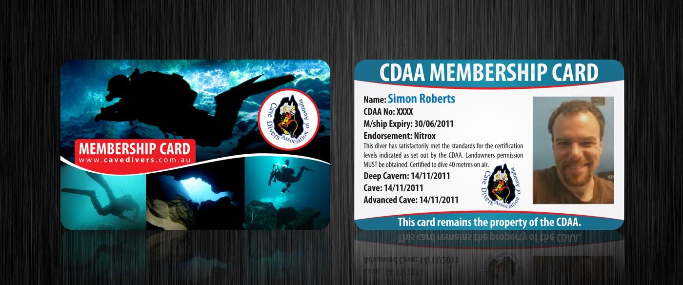 Membership Card for Cave Divers Association of Australia (CDAA)