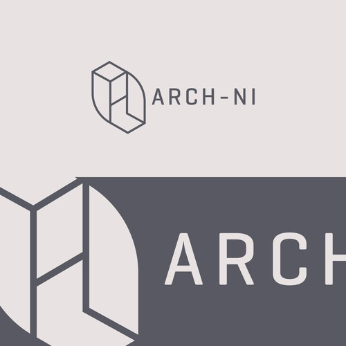 Isometric logo for Architecture firm