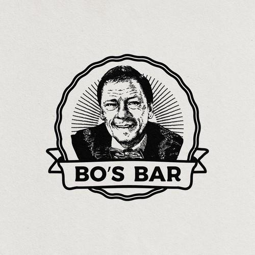 vintage logo for Bo's Bar