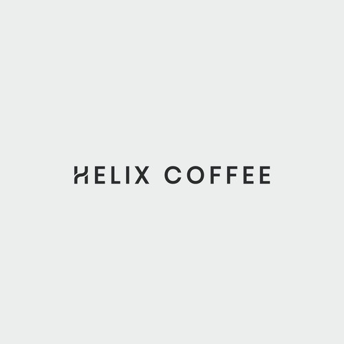 Clean wordmark for a coffee shop
