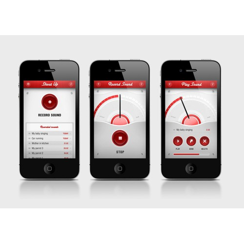 Sound recorder app design