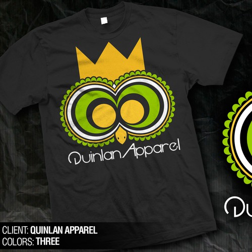 T-shirt design for Quinlan Apparel