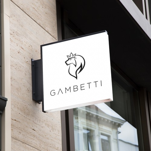 Strong, modern logo for Gambetti
