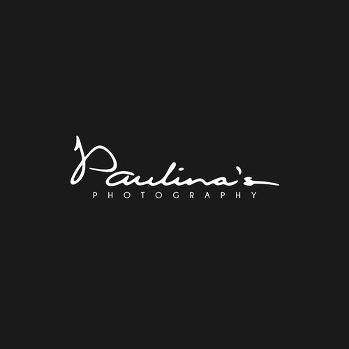 Signature type logo for photography service