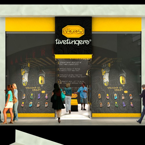 Vibram Fivefingers Shop Design