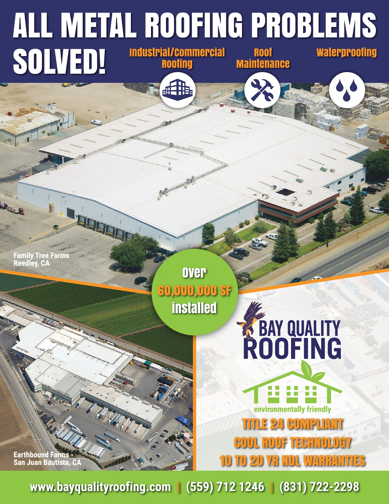 Create a call to action mailer for a environmentally conscious roofing company