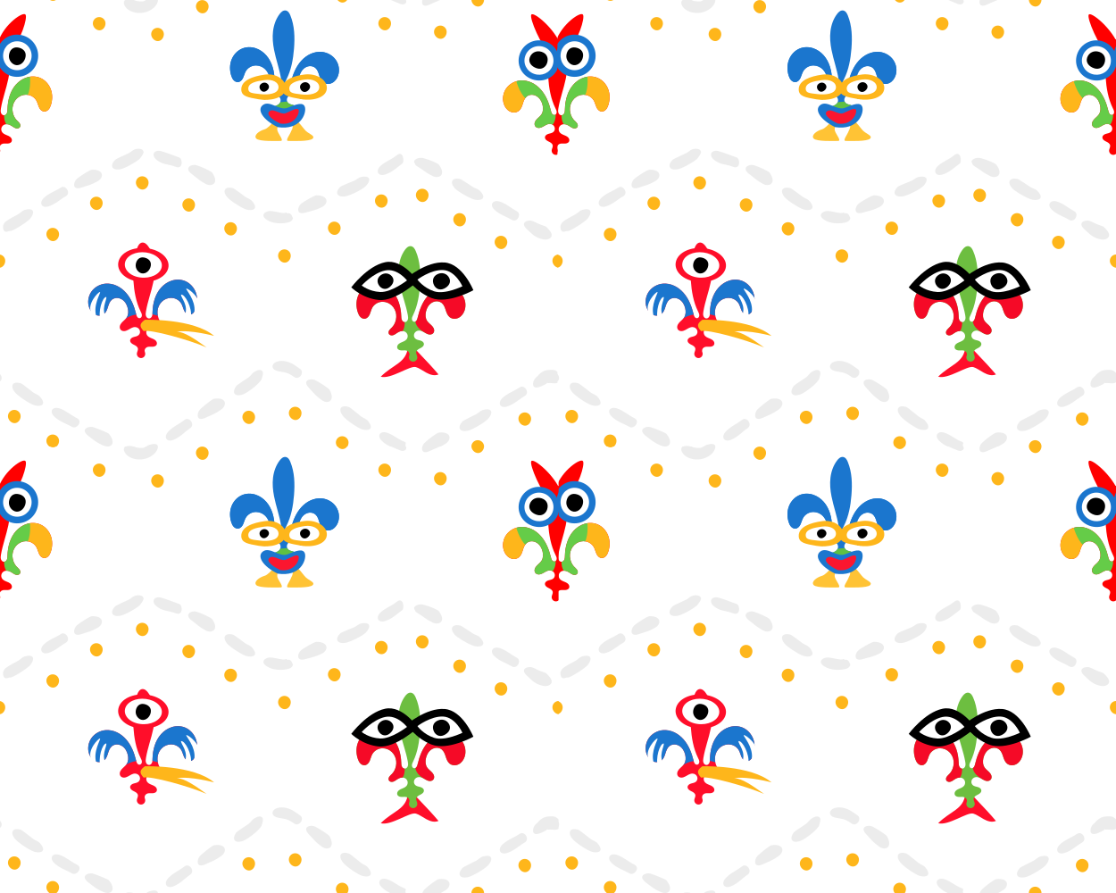 Design 2 textile patterns for a baby's accessories brand