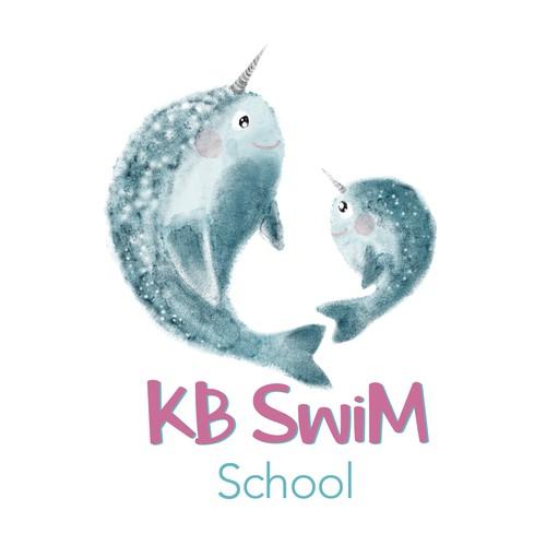 Logo concept for KB Swim School