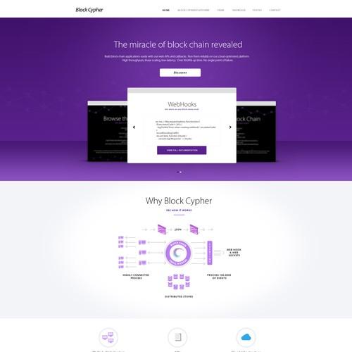 Bitcoin/cipher/chain site design for BlockCypher
