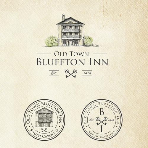 Vintage boutique hotel logo