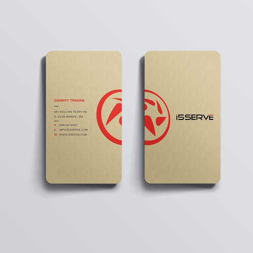 Business Card for i5serve.