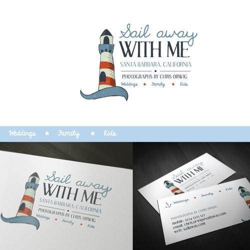 """SAIL AWAY WITH ME"" High-End Wedding Photography Needs New Logo"