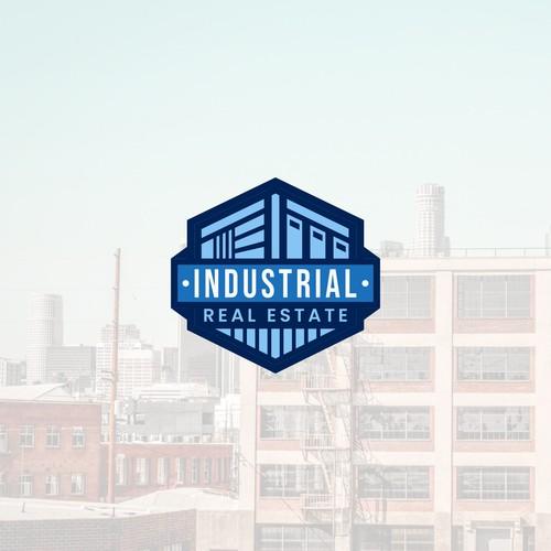 Logo Industrial Real Estate Emblem