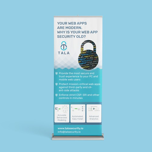 Roll up banner for web security firm