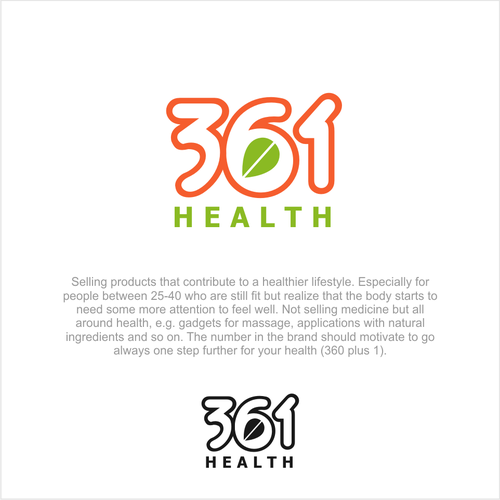 New startup logo, products for a healthier lifestyle