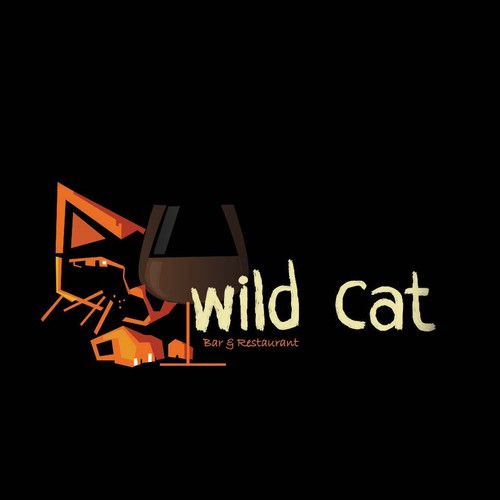 my logos fir the contest of wild cat bar and restaurant