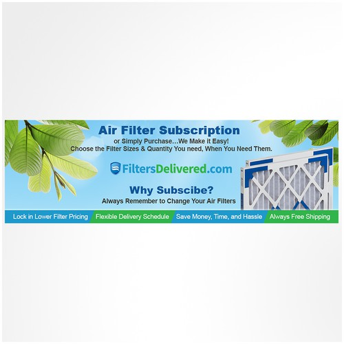 Banner ad design - Air Filter