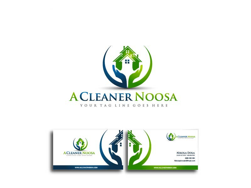 Create the next logo and business card for Aussie Rescue Cleaning Services