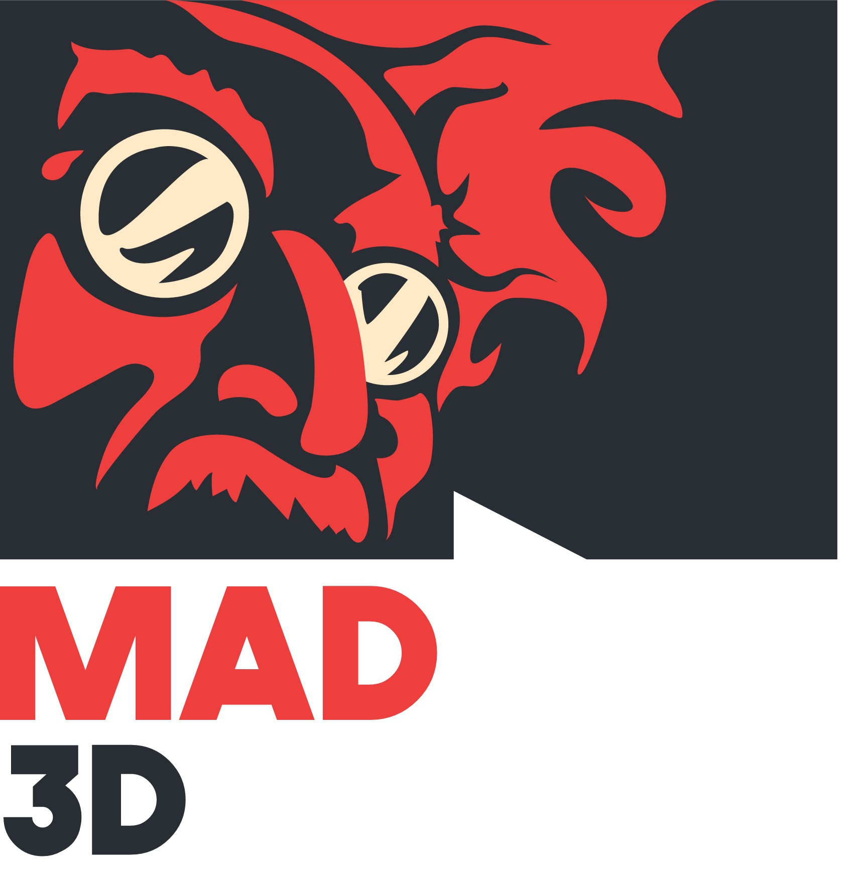 MAD JACK 3D PRINTS Logo!  GUARANTEED Contest!!!  Mad Scientist Mascot!