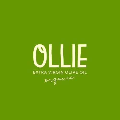 Organic logo design for an extra virgin olive oil brand