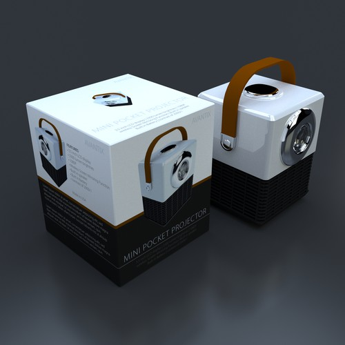 Packaging design for mini projector