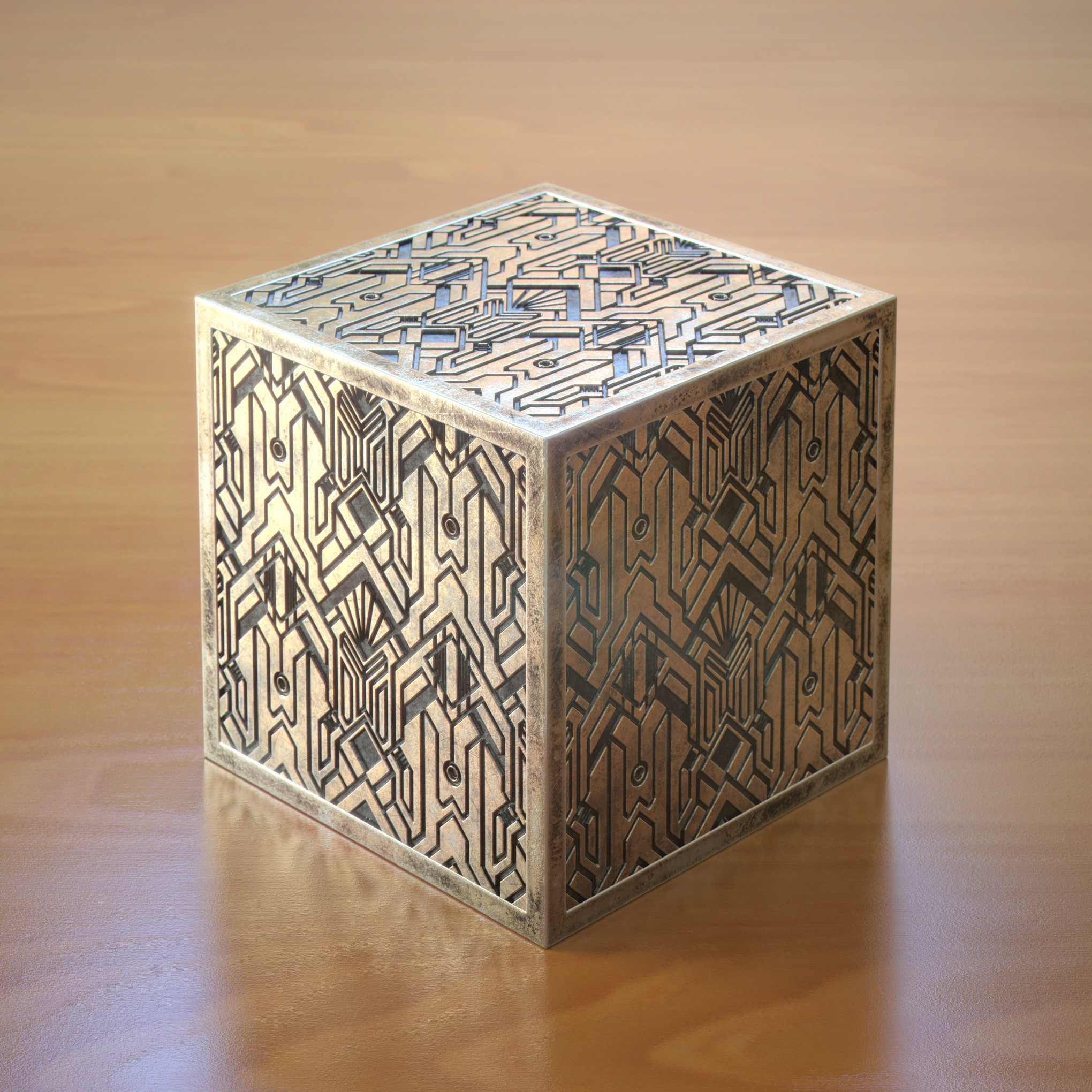 We need a 3D design for our decorative brass jewelry cube