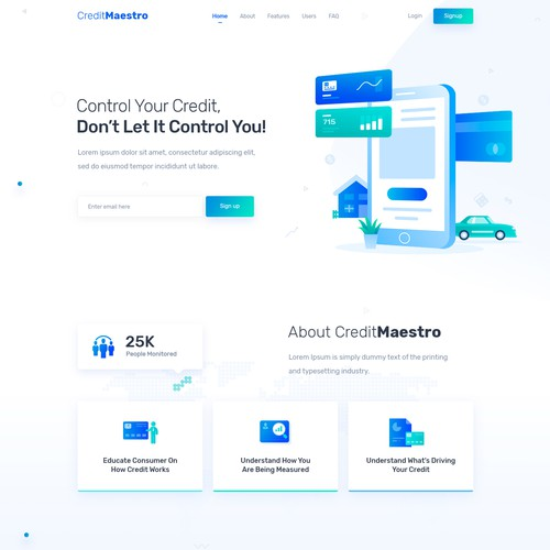 Credit Management Website Design and HTML