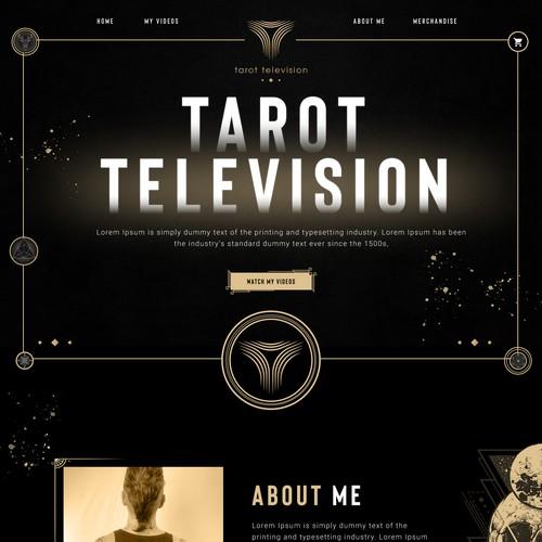 Web design concept for a Tarot Reader