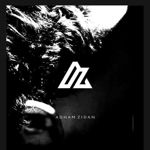 Clean monogrammatic mark for Adham Zidan
