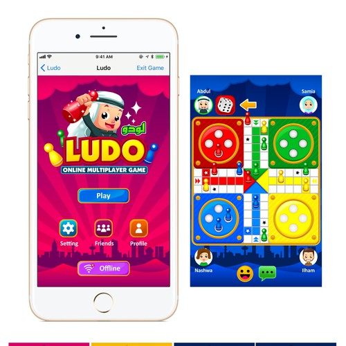 Game icons & illustration for LUDO (only logo is from contest holder)