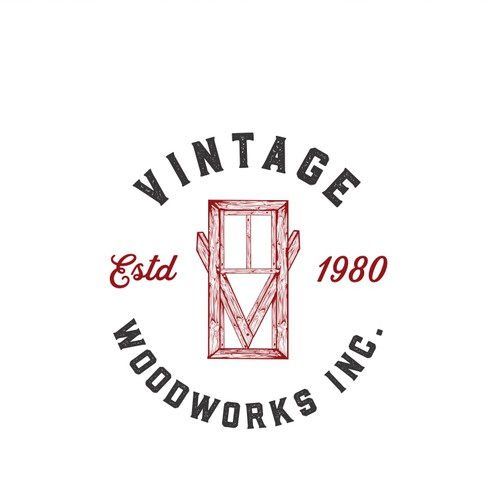 logo for vintage woodwork/