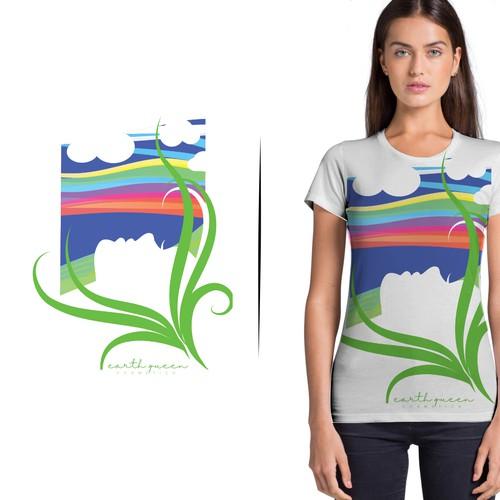 T-shirt design for Earth Queen brand