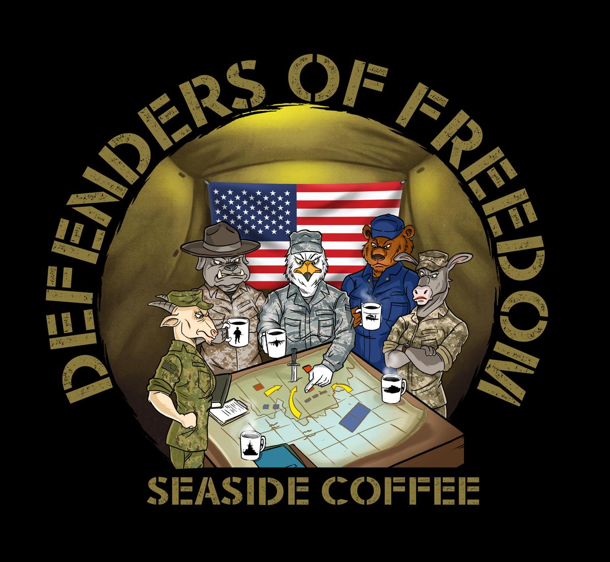Seaside Coffee Label