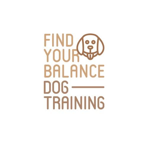 Minimalistic dog training logo concept