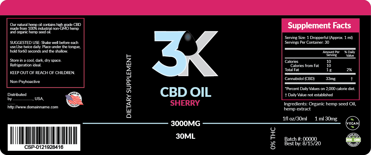 design labels for a series of products containing CBD oil