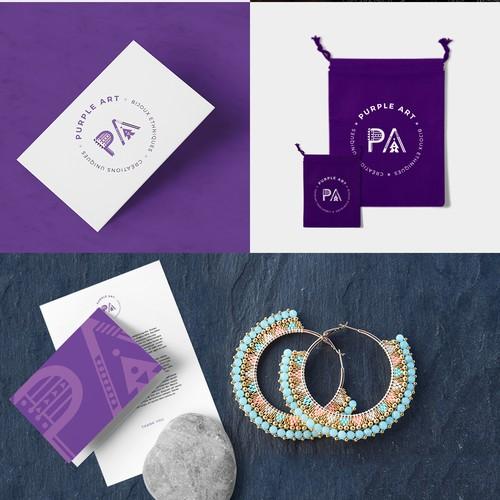 Logo pour une marque de bijoux ethniques