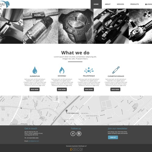 Web design for JABHAI